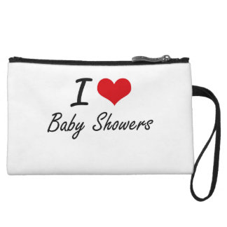I love Baby Showers Wristlet