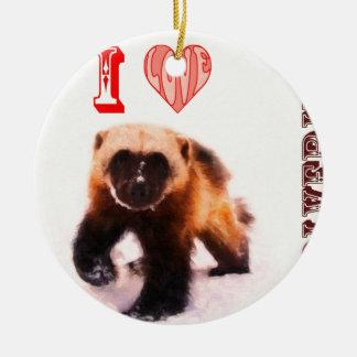 i love baby wolverine ceramic ornament