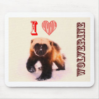i love baby wolverine mouse pad
