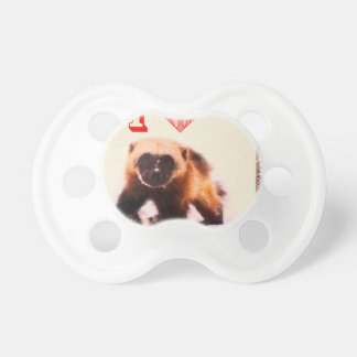 i love baby wolverine baby pacifier