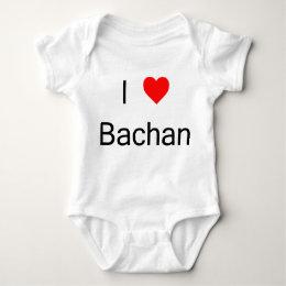 I love Bachan one piece Baby Bodysuit