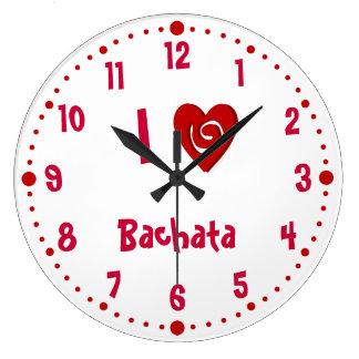 I Love Bachata Heart Latin Dance Clock W/ Minutes