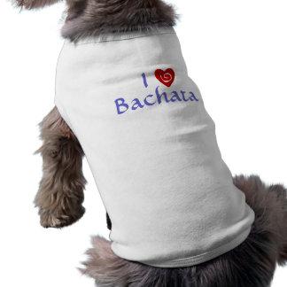 I Love Bachata Heart Latin Dancing Custom Doggie T Shirt