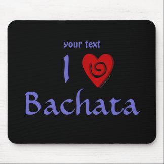 I Love Bachata Heart Latin Dancing Custom Mouse Pad