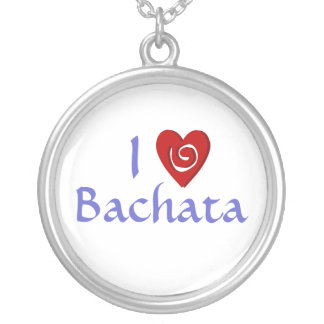 I Love Bachata Heart Latin Dancing Custom Personalized Necklace