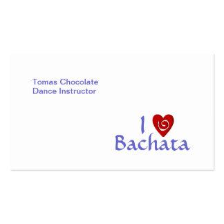 I Love Bachata Latin Dance Teacher Customizable Double-Sided Standard Business Cards (Pack Of 100)