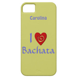 I Love Bachata Latin Dancing Personalized iphone 5 iPhone SE/5/5s Case