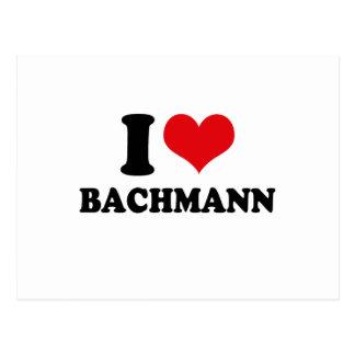 I LOVE BACHMANN POSTCARD