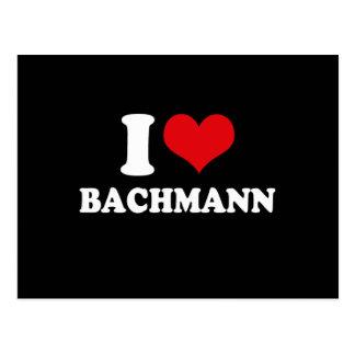 I LOVE BACHMANN (white) Postcard