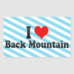 I Love Back Mountain, United States Sticker
