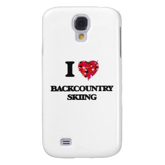 I Love Backcountry Skiing Galaxy S4 Cover