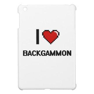 I Love Backgammon Digital Retro Design iPad Mini Cover