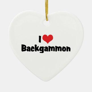 I Love Backgammon Christmas Tree Ornament