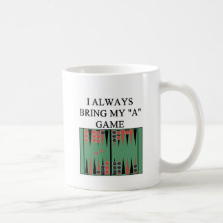 i love backgammon player coffee mug