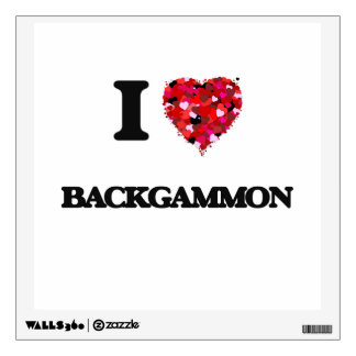 I Love Backgammon Room Graphic