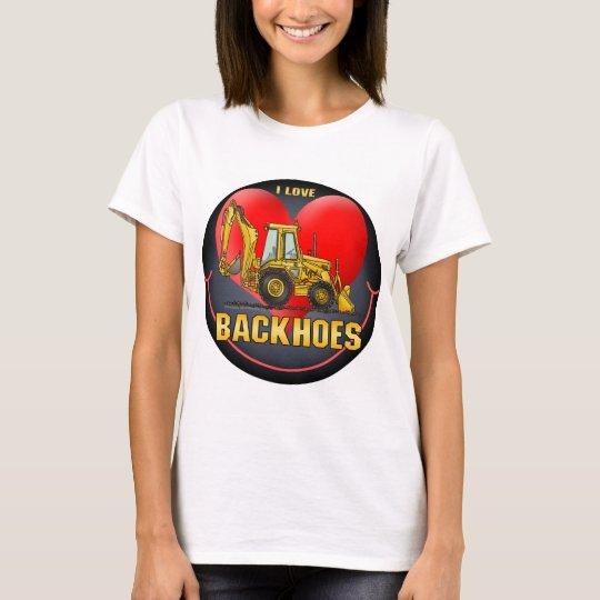 I Love Backhoes Kids Sticker T-Shirt