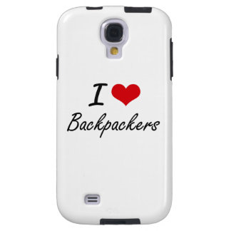 I Love Backpackers Artistic Design Galaxy S4 Case