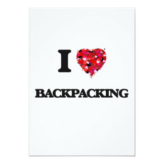I Love Backpacking 5x7 Paper Invitation Card