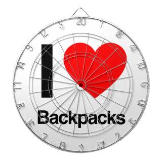 i love backpacks dartboard with darts