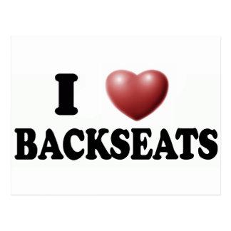 I Love Backseats Postcards
