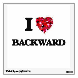 I Love Backward Wall Stickers