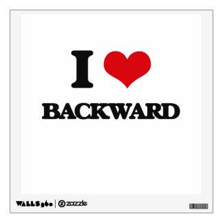 I Love Backward Room Sticker