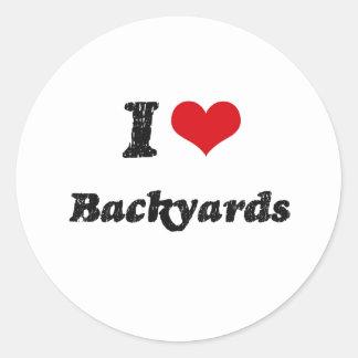 I Love BACKYARDS Sticker