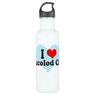 I Love Bacolod City, Philippines Water Bottle