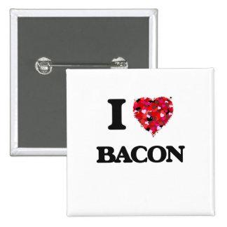 I Love Bacon 2 Inch Square Button