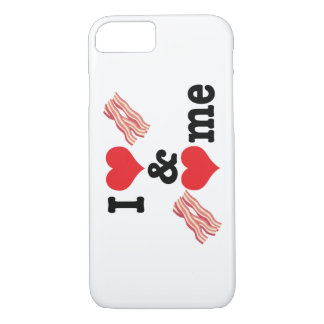 I Love Bacon and Bacon Loves Me back iPhone 8/7 Case