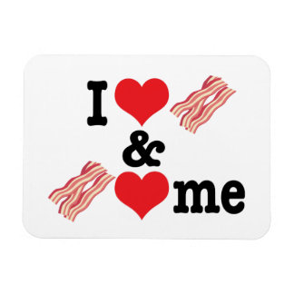 I Love Bacon and Bacon Loves Me back Magnet