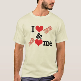 I Love Bacon and Bacon Loves Me back T-Shirt