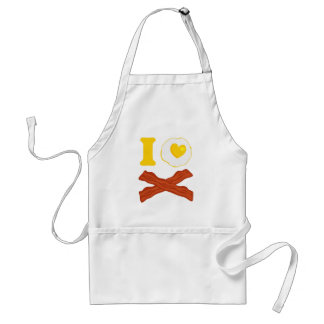 I Love Bacon And Eggs Adult Apron