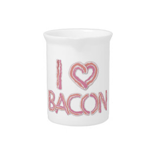 I Love Bacon Beverage Pitcher