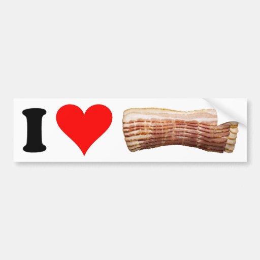 I Love Bacon Bumper Sticker
