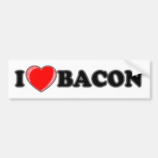 I Love Bacon Car Bumper Sticker