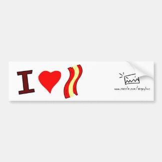 I love Bacon Bumper sticker Car Bumper Sticker