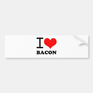 I love bacon bumper sticker