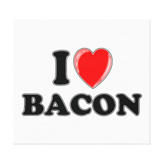 I Love Bacon Gallery Wrapped Canvas