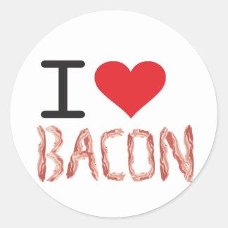 I Love Bacon Classic Round Sticker