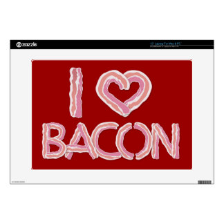 """I Love Bacon Decals For 15"""" Laptops"""
