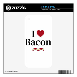 I love Bacon! Decals For iPhone 4