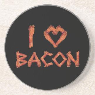 I Love Bacon Drink Coasters