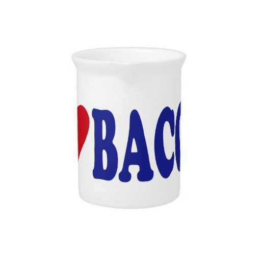 I Love Bacon Drink Pitcher