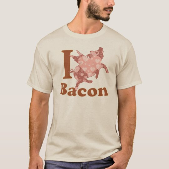 I LOVE BACON flying pig T-Shirt