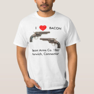I love Bacon gun shirt
