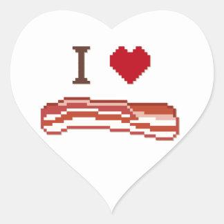 I Love Bacon Heart Sticker