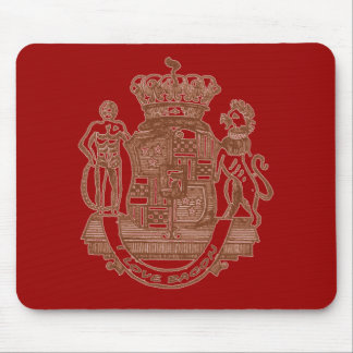 I Love Bacon Heraldic Crest Products Mouse Pad