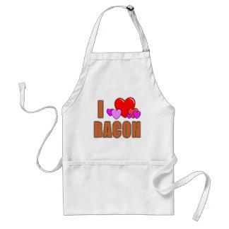 I Love Bacon I Heart Bacon Fun Bacon Design Aprons