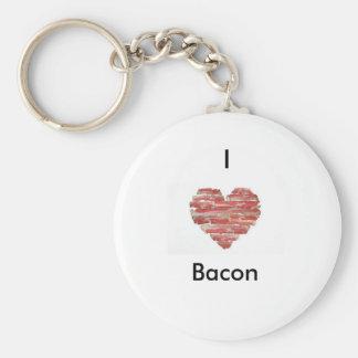 """""""I love bacon"""" key chain"""